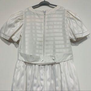 Sylbia Whyte Dresses - Vintage White Girls Flower Girl Dress Bows Sz 10